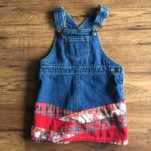🌈3 for $13/ 18 months jean overall dress